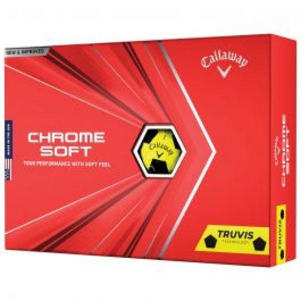 callaway chrome soft 2021 truvis yellow black golf balls 1