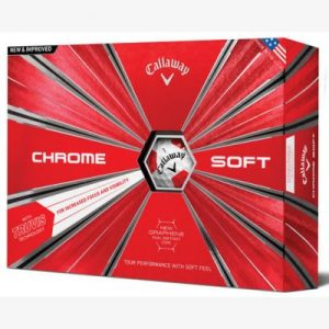 callaway chrome soft truvis golf ball 2019 whitered 1