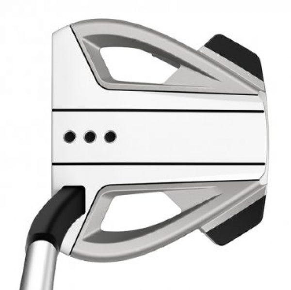 taylormade spider ex 9 platinum white flow neck golf putter